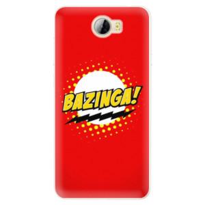 Silikonové pouzdro iSaprio (mléčně zakalené) Bazinga 01 na mobil Huawei Y5 II / Y6 II Compact