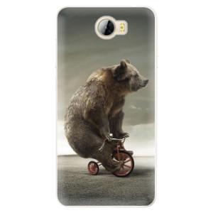 Silikonové pouzdro iSaprio (mléčně zakalené) Medvěd 01 na mobil Huawei Y5 II / Y6 II Compact