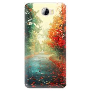 Silikonové pouzdro iSaprio (mléčně zakalené) Podzim 03 na mobil Huawei Y5 II / Y6 II Compact