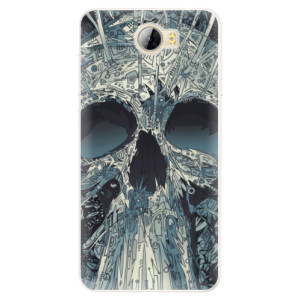 Silikonové pouzdro iSaprio (mléčně zakalené) Abstract Skull na mobil Huawei Y5 II / Y6 II Compact