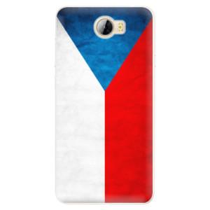 Silikonové pouzdro iSaprio (mléčně zakalené) Česká Vlajka na mobil Huawei Y5 II / Y6 II Compact