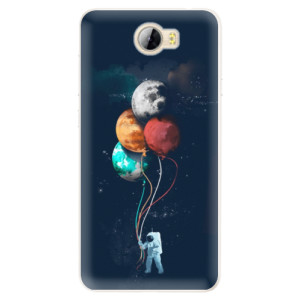 Silikonové pouzdro iSaprio (mléčně zakalené) Balónky 02 na mobil Huawei Y5 II / Y6 II Compact