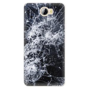 Silikonové pouzdro iSaprio (mléčně zakalené) Praskliny na mobil Huawei Y5 II / Y6 II Compact
