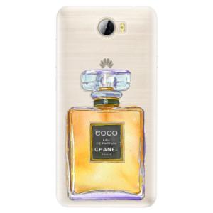 Silikonové pouzdro iSaprio (mléčně zakalené) Chanel Gold na mobil Huawei Y5 II / Y6 II Compact