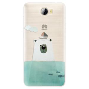 Silikonové pouzdro iSaprio (mléčně zakalené) Medvěd s Lodí na mobil Huawei Y5 II / Y6 II Compact