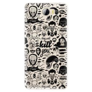Silikonové pouzdro iSaprio (mléčně zakalené) Komiks 01 black na mobil Huawei Y5 II / Y6 II Compact