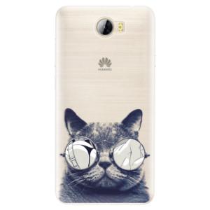 Silikonové pouzdro iSaprio (mléčně zakalené) Šílená Číča 01 na mobil Huawei Y5 II / Y6 II Compact