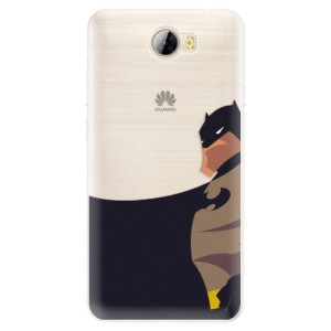 Silikonové pouzdro iSaprio (mléčně zakalené) BaT Komiks na mobil Huawei Y5 II / Y6 II Compact