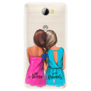 Silikonové pouzdro iSaprio (mléčně zakalené) Best Friends na mobil Huawei Y5 II / Y6 II Compact