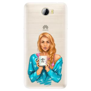 Silikonové pouzdro iSaprio (mléčně zakalené) Coffee Now Zrzka na mobil Huawei Y5 II / Y6 II Compact