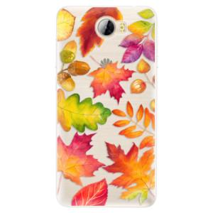 Silikonové pouzdro iSaprio (mléčně zakalené) Podzimní Lístečky na mobil Huawei Y5 II / Y6 II Compact