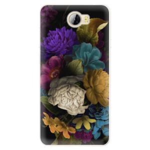 Silikonové pouzdro iSaprio (mléčně zakalené) Temné Květy na mobil Huawei Y5 II / Y6 II Compact