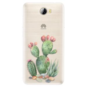 Silikonové pouzdro iSaprio (mléčně zakalené) Kaktusy 01 na mobil Huawei Y5 II / Y6 II Compact