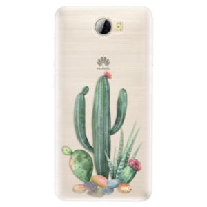 Silikonové pouzdro iSaprio (mléčně zakalené) Kaktusy 02 na mobil Huawei Y5 II / Y6 II Compact