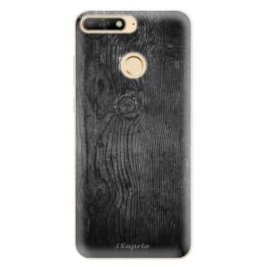 Silikonové pouzdro iSaprio (mléčně zakalené) Black Wood 13 na mobil Huawei Y6 Prime 2018