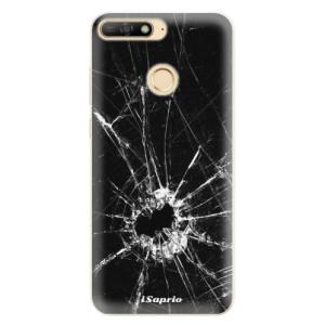 Silikonové pouzdro iSaprio (mléčně zakalené) Broken Glass 10 na mobil Huawei Y6 Prime 2018