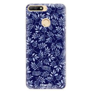 Silikonové pouzdro iSaprio (mléčně zakalené) Blue Leaves 05 na mobil Huawei Y6 Prime 2018