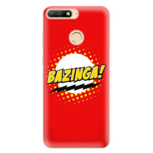Silikonové pouzdro iSaprio (mléčně zakalené) Bazinga 01 na mobil Huawei Y6 Prime 2018