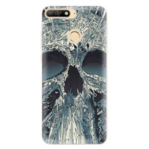 Silikonové pouzdro iSaprio (mléčně zakalené) Abstract Skull na mobil Huawei Y6 Prime 2018