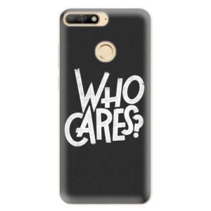 Silikonové pouzdro iSaprio (mléčně zakalené) Who Cares na mobil Huawei Y6 Prime 2018