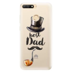 Silikonové pouzdro iSaprio (mléčně zakalené) Best Dad na mobil Huawei Y6 Prime 2018