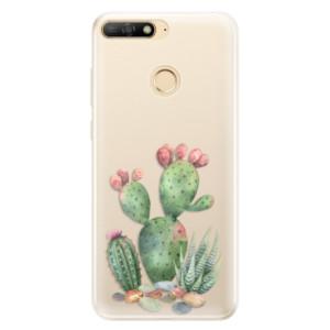 Silikonové pouzdro iSaprio (mléčně zakalené) Kaktusy 01 na mobil Huawei Y6 Prime 2018