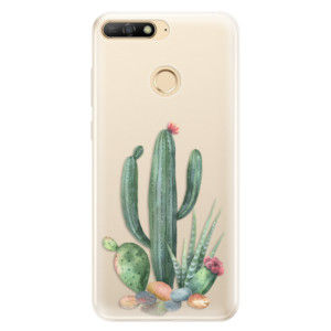 Silikonové pouzdro iSaprio (mléčně zakalené) Kaktusy 02 na mobil Huawei Y6 Prime 2018