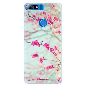 Silikonové pouzdro iSaprio (mléčně zakalené) Blossom 01 na mobil Huawei Y7 Prime 2018