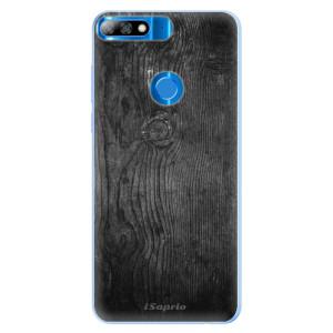 Silikonové pouzdro iSaprio (mléčně zakalené) Black Wood 13 na mobil Huawei Y7 Prime 2018