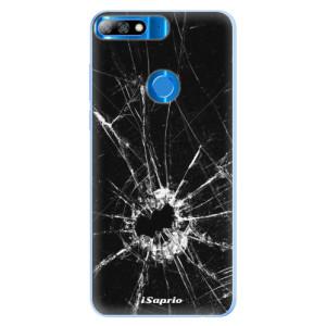 Silikonové pouzdro iSaprio (mléčně zakalené) Broken Glass 10 na mobil Huawei Y7 Prime 2018