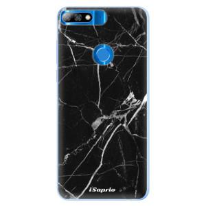 Silikonové pouzdro iSaprio (mléčně zakalené) Black Marble 18 na mobil Huawei Y7 Prime 2018