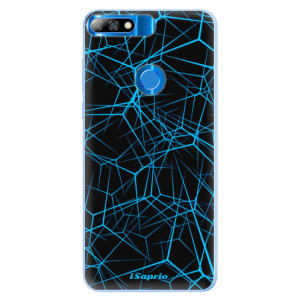 Silikonové pouzdro iSaprio (mléčně zakalené) Abstract Outlines 12 na mobil Huawei Y7 Prime 2018