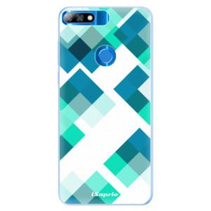 Silikonové pouzdro iSaprio (mléčně zakalené) Abstract Squares 11 na mobil Huawei Y7 Prime 2018