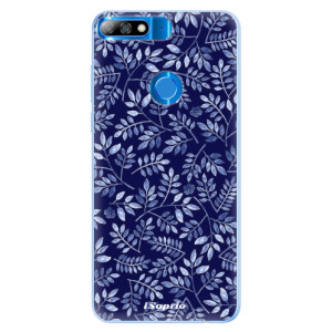 Silikonové pouzdro iSaprio (mléčně zakalené) Blue Leaves 05 na mobil Huawei Y7 Prime 2018
