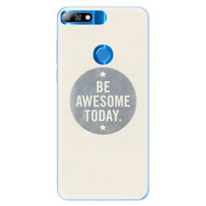 Silikonové pouzdro iSaprio (mléčně zakalené) Awesome 02 na mobil Huawei Y7 Prime 2018