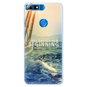 Silikonové pouzdro iSaprio (mléčně zakalené) Beginning na mobil Huawei Y7 Prime 2018