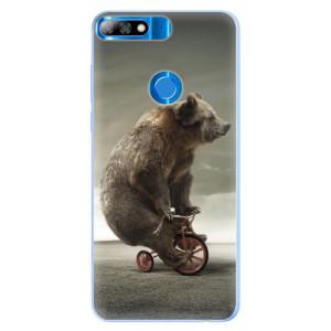 Silikonové pouzdro iSaprio (mléčně zakalené) Medvěd 01 na mobil Huawei Y7 Prime 2018