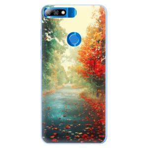 Silikonové pouzdro iSaprio (mléčně zakalené) Podzim 03 na mobil Huawei Y7 Prime 2018