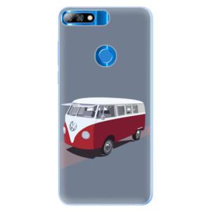 Silikonové pouzdro iSaprio (mléčně zakalené) VW Bus na mobil Huawei Y7 Prime 2018