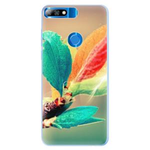 Silikonové pouzdro iSaprio (mléčně zakalené) Podzim 02 na mobil Huawei Y7 Prime 2018