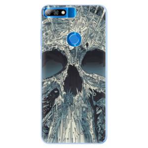 Silikonové pouzdro iSaprio (mléčně zakalené) Abstract Skull na mobil Huawei Y7 Prime 2018