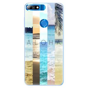 Silikonové pouzdro iSaprio (mléčně zakalené) Aloha 02 na mobil Huawei Y7 Prime 2018