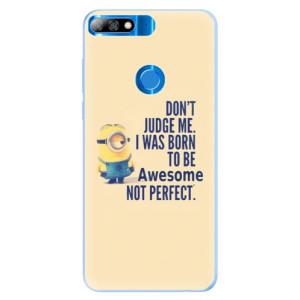 Silikonové pouzdro iSaprio (mléčně zakalené) Be Awesome na mobil Huawei Y7 Prime 2018