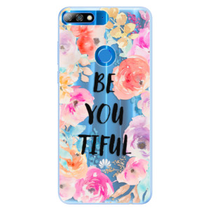 Silikonové pouzdro iSaprio (mléčně zakalené) BeYouTiful na mobil Huawei Y7 Prime 2018
