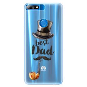 Silikonové pouzdro iSaprio (mléčně zakalené) Best Dad na mobil Huawei Y7 Prime 2018