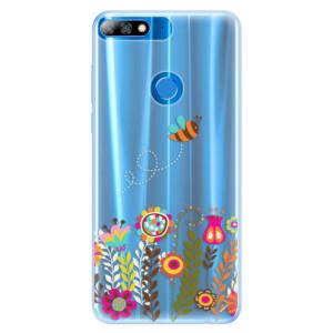 Silikonové pouzdro iSaprio (mléčně zakalené) Včelka Pája 01 na mobil Huawei Y7 Prime 2018