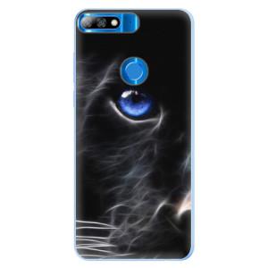 Silikonové pouzdro iSaprio (mléčně zakalené) Black Puma na mobil Huawei Y7 Prime 2018