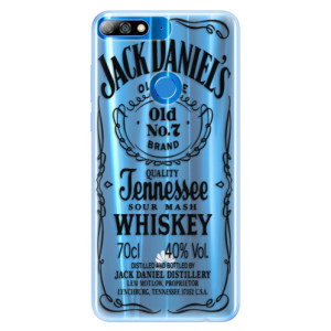 Silikonové pouzdro iSaprio (mléčně zakalené) Transparentí Black Jack na mobil Huawei Y7 Prime 2018