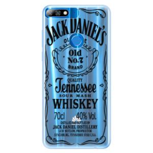Silikonové pouzdro iSaprio (mléčně zakalené) Transparentí Black Jack na mobil Huawei Y7 Prime 2018 / Honor 7C