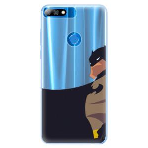 Silikonové pouzdro iSaprio (mléčně zakalené) BaT Komiks na mobil Huawei Y7 Prime 2018